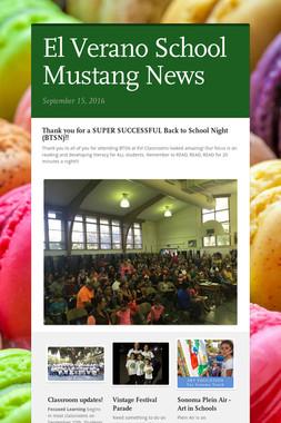 El Verano School Mustang News