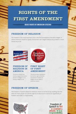 Rights of the First Amendment