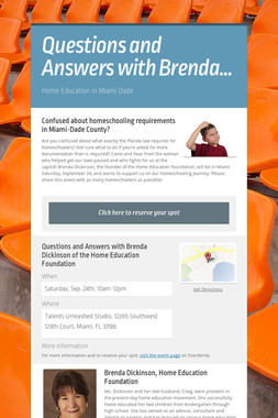 Questions and Answers with Brenda…