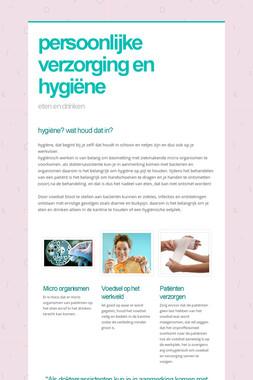 persoonlijke verzorging en hygiëne