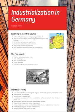 Industrialization in Germany