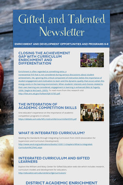 Gifted and Talented Newsletter