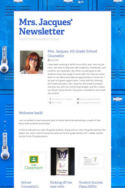 Mrs. Jacques' Newsletter