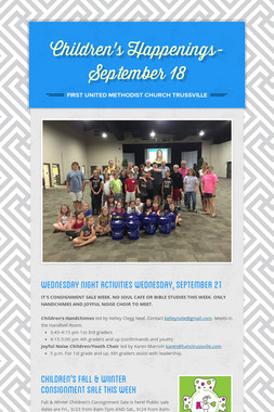 Children's Happenings-September 18