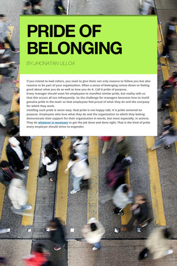 PRIDE OF BELONGING