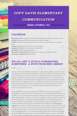 Copy Davis Elementary Communication