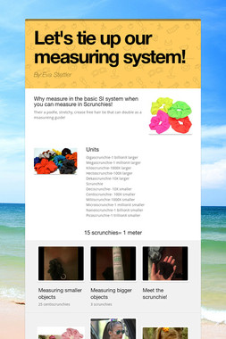 Let's tie up our measuring system!