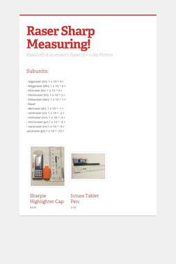 Raser Sharp Measuring!
