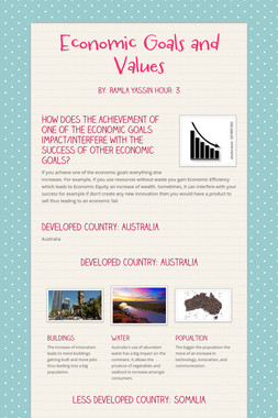 Economic Goals and Values