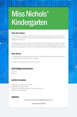 Miss Nichols' Kindergarten