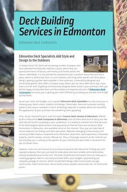 Deck Building Services in Edmonton