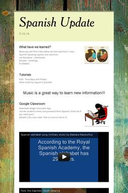 Spanish Update