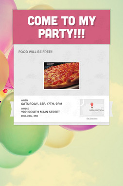 Come to my party!!!