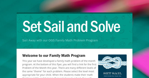 Set Sail and Solve | Smore Newsletters for Business