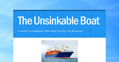 The Unsinkable Boat Smore Newsletters