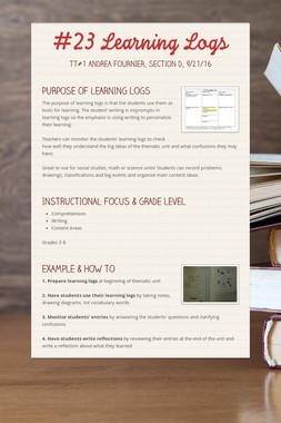 #23 Learning Logs