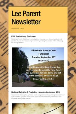 Lee Parent Newsletter