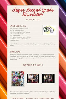 Super Second Grade Newsletter