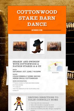 Cottonwood Stake Barn Dance
