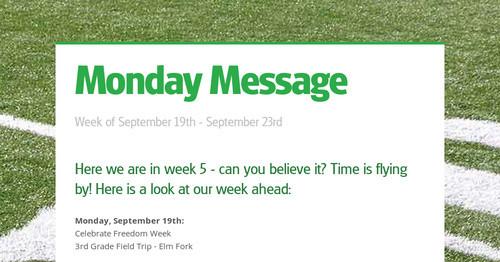 Monday Message