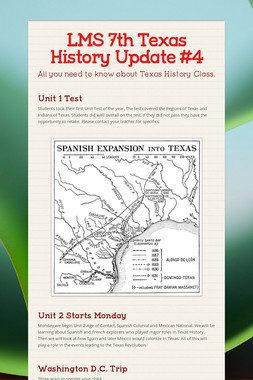 LMS 7th Texas History Update #4