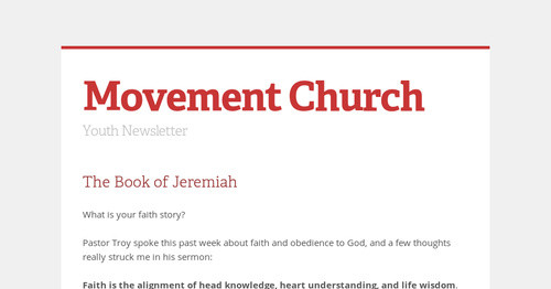 Movement Church | Smore Newsletters