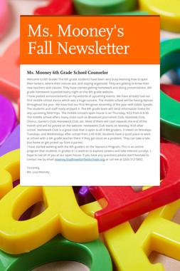 Ms. Mooney's Fall Newsletter