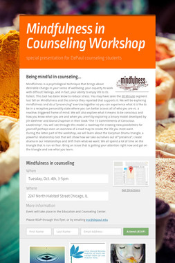 Mindfulness in Counseling Workshop