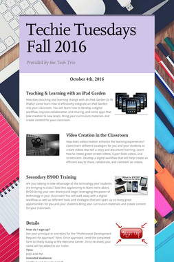 Techie Tuesdays Fall 2016