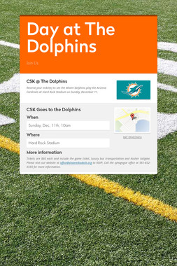 Day at The Dolphins