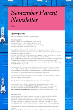 September Parent Newsletter