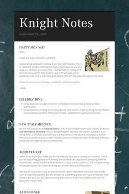 Knight Notes