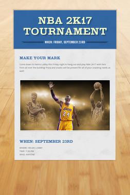 NBA 2k17 Tournament