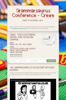 Grammarsaurus Conference - Crewe
