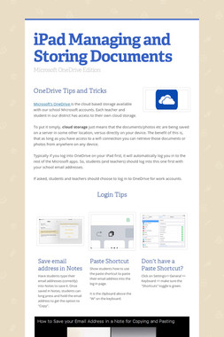 iPad Managing and Storing Documents