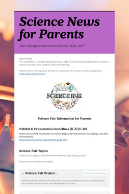 Science News for Parents