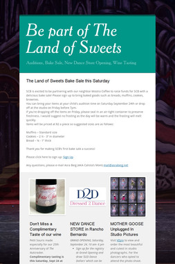 Be part of The Land of Sweets