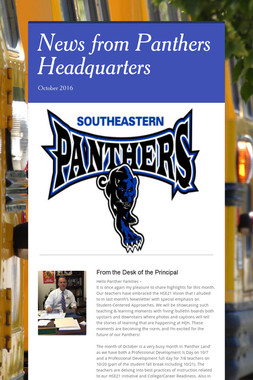 News from Panthers Headquarters
