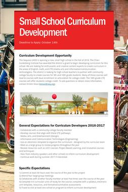 Small School Curriculum Development