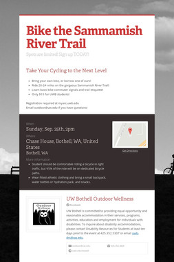 Bike the Sammamish River Trail
