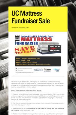 UC Mattress Fundraiser Sale