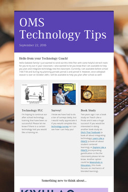OMS Technology Tips