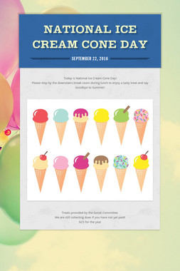 National Ice Cream Cone Day
