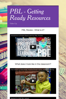 PBL - Getting Ready Resources