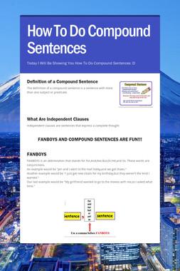 How To Do Compound Sentences