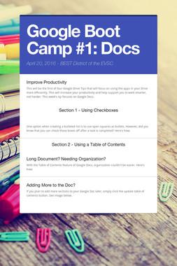Google Boot Camp #1: Docs