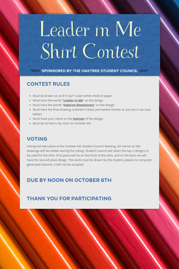 Leader in Me Shirt Contest
