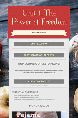 Unit 1: The Power of Freedom