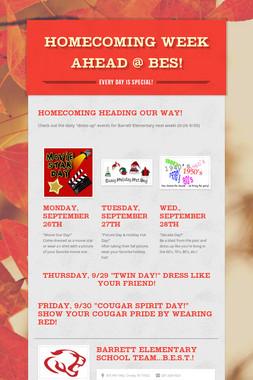 Homecoming Week Ahead @ BES!