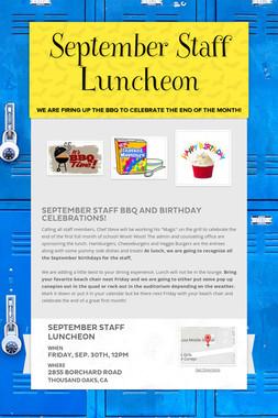 September Staff Luncheon